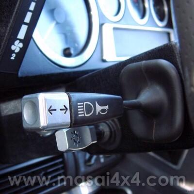 Indicator / Wiper and Headlight Switch End Caps - Billet Aluminium (Set of 3)