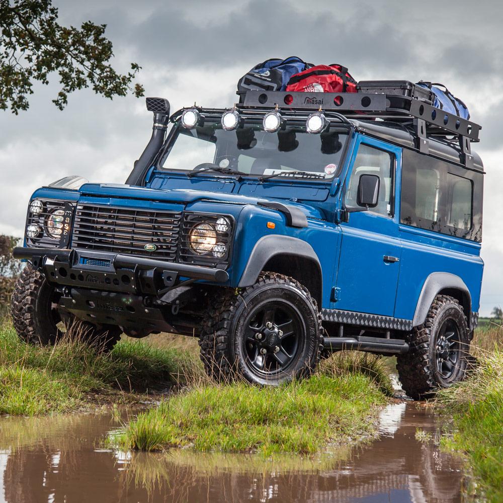 Blue 1999 Land Rover Defender 90 TD5