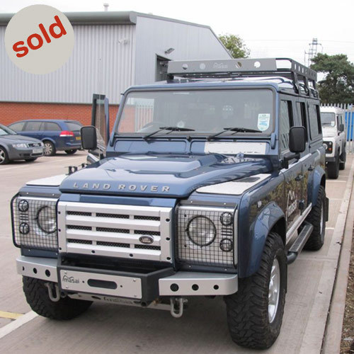 Land Rover Defender 110 For Sale: Blue 2007 Land Rover Defender XS Utility 110