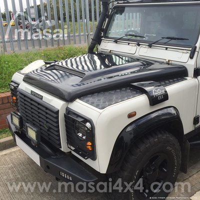 Masai Sport Scooped Bonnet with Grill for Land Rover Defender - GRP Fibreglass
