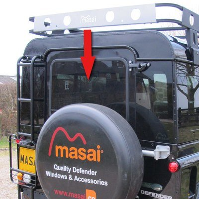 Rear Door Glass - Dark Tinted & Heated for Post 2002 Land Rover Defenders 90/110 - (Sealed in)