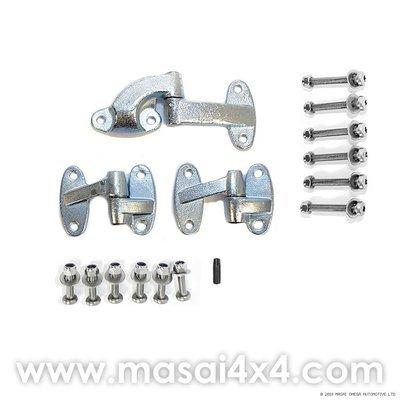 Rear Door Hinge Kit (Stainless Steel Torx Head Bolts) - Land Rover Defender