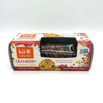 Kii Naturals Cranberry Pumpkin Seed Artisan Crisps