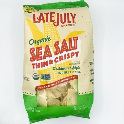 Late July Organic Sea Salt Thin & Crispy Restaurant Style Tortilla Chips
