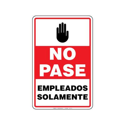 Rótulo Aviso - NO PASE EMPLEADOS SOLAMENTE