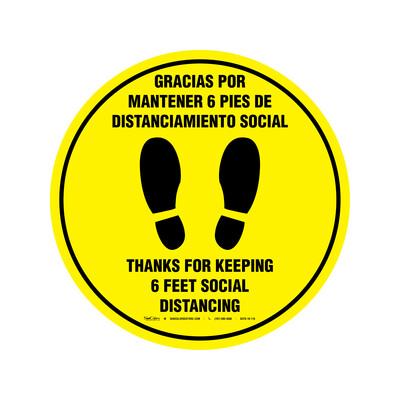 GRÁFICOS DE PISO - DISTANCIAMIENTO SOCIAL (BILINGÜE)