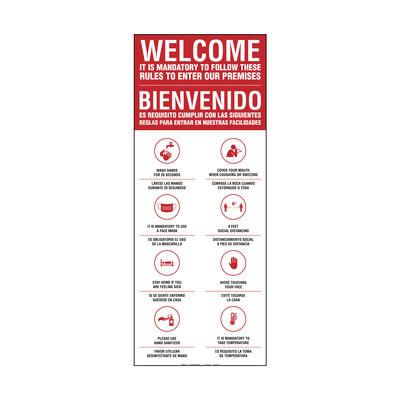 Banner - BIENVENIDO REGLAS PARA ENTRAR BILINGÜE