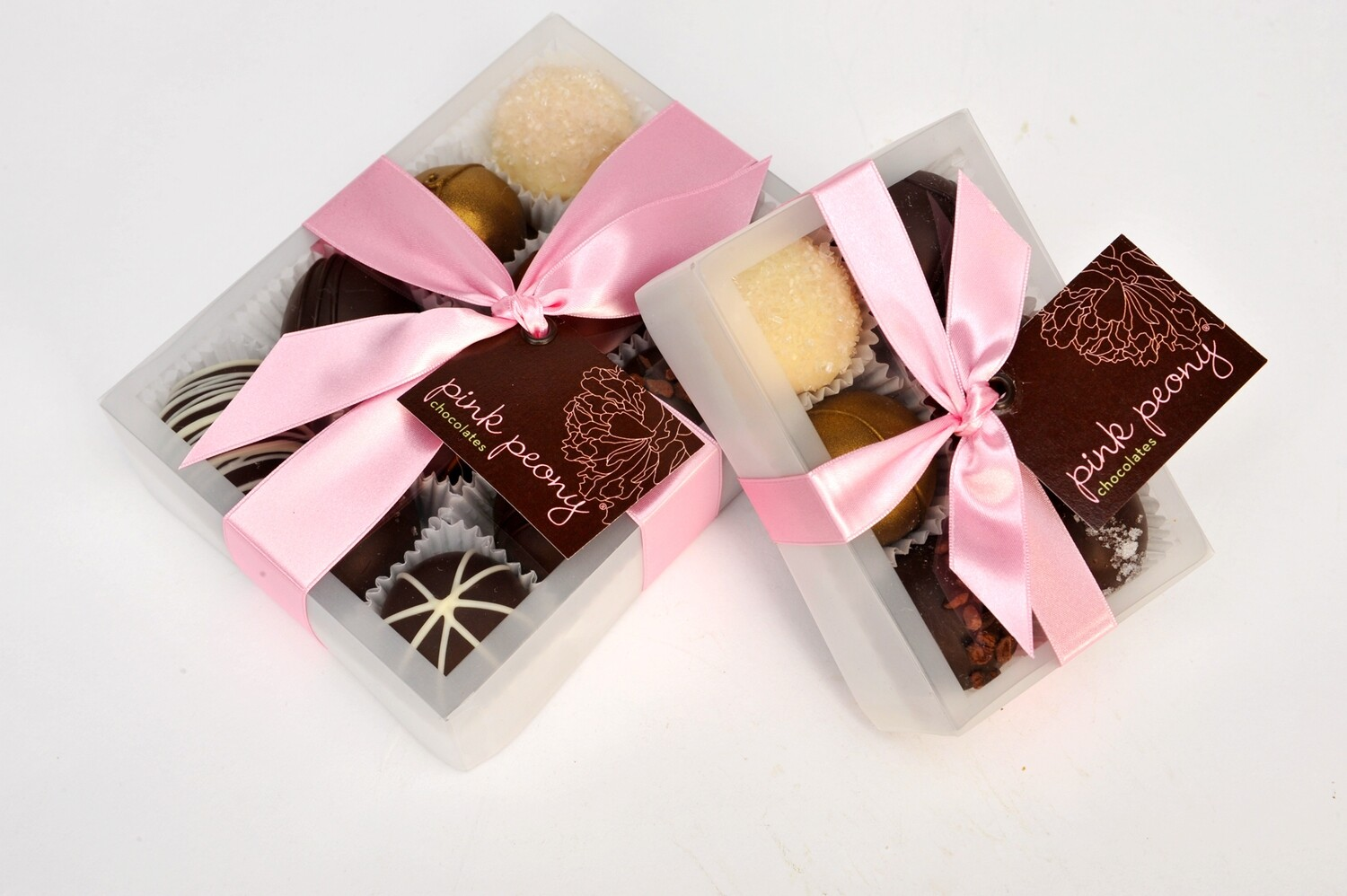 Pink Peony Truffles - Milk Chocolate Collection