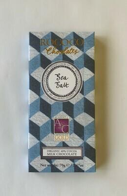 Sea Salt Organic Milk Chocolate Artisan Bar