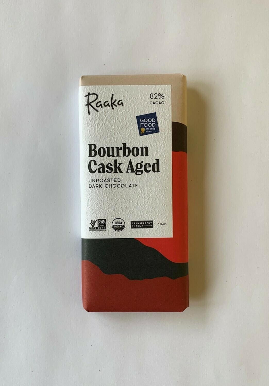 Raaka Bourbon Cask Aged Dark Chocolate Bar
