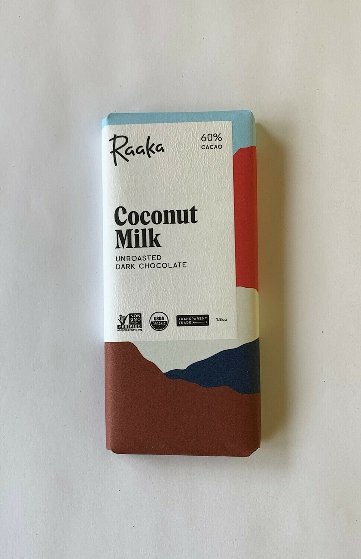 Rakka Coconut Milk Dark Chocolate Bar