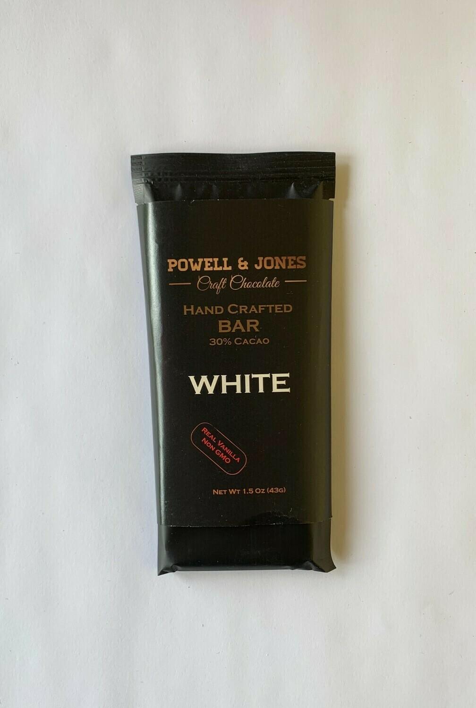 Powell & Jones Hand Crafted White Chocolate Bar