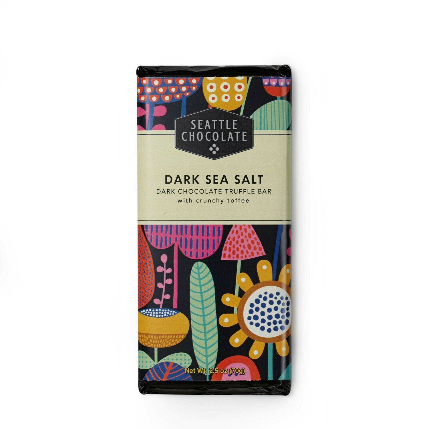 Seattle Chocolate Dark Sea Salt Truffle Bar
