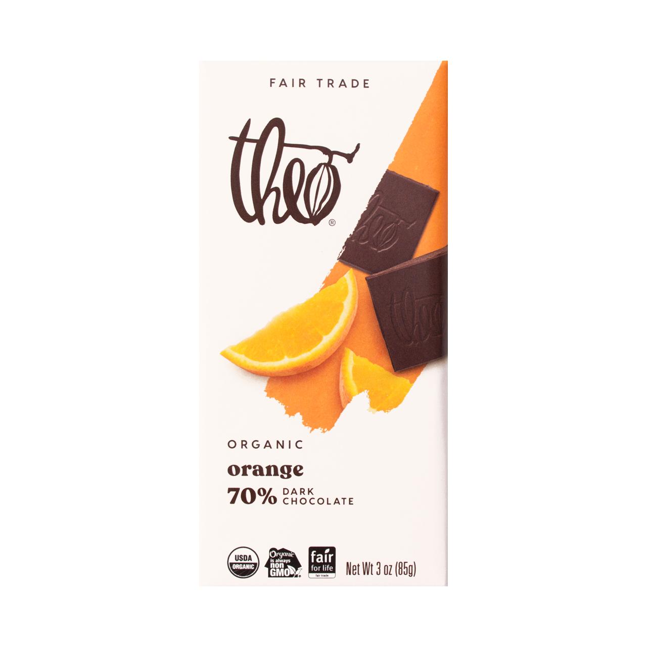 Theo Orange 70% Dark Chocolate Bar