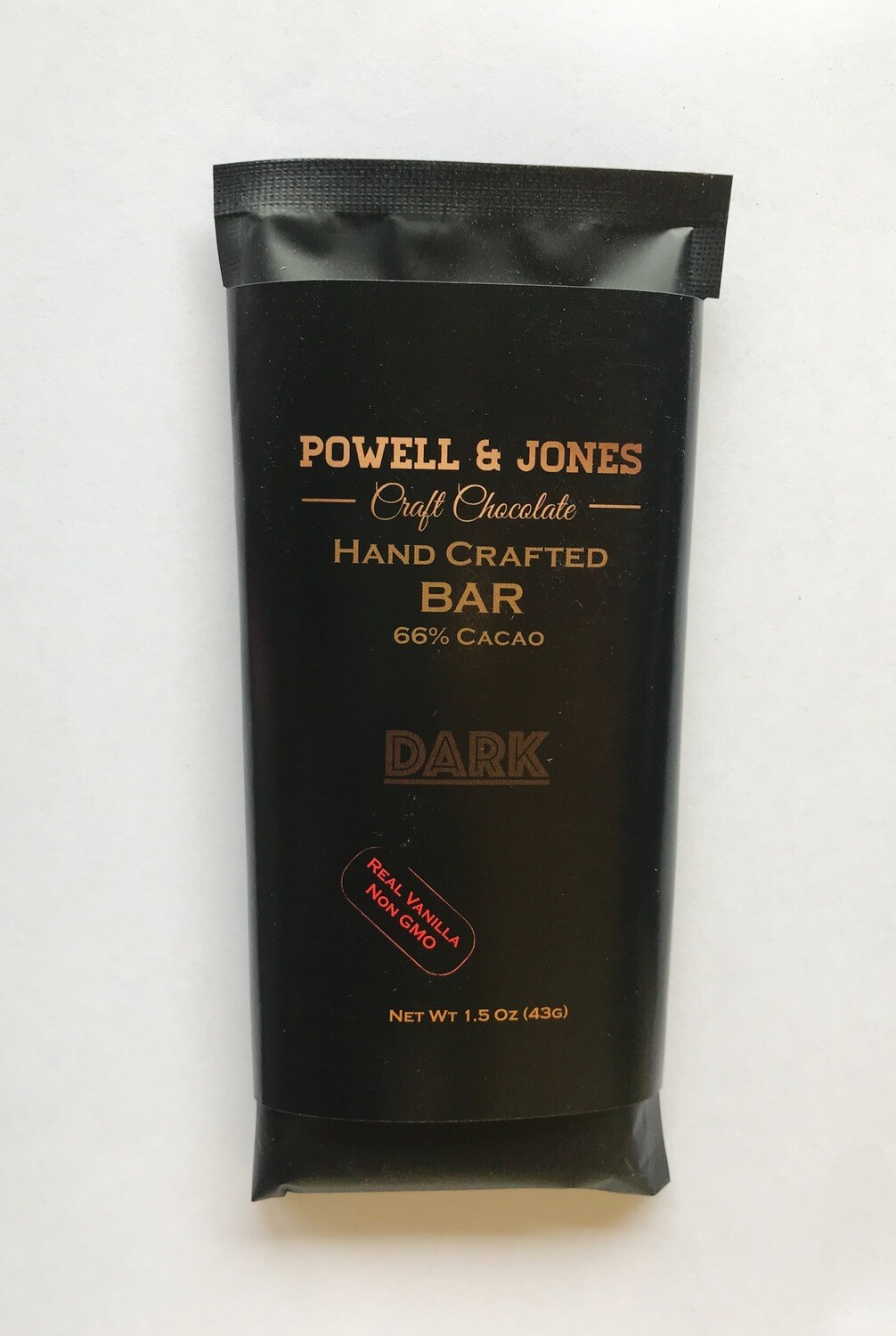 Powell and Jones Dark Chocolate Bar