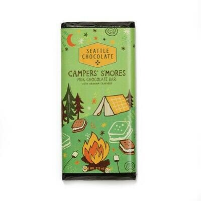 Seattle Chocolate Campers' S'Mores Milk Chocolate Truffle Bar