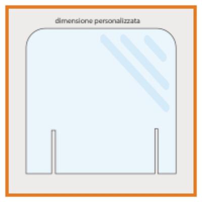 Barriera Parafiato in plexiglass -  senza passamano - modello 2