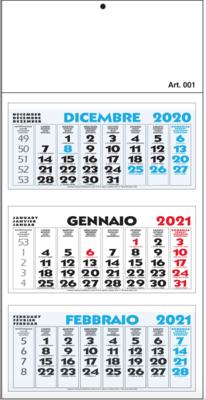 Calendario Trittico 2021