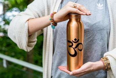 Copper Water Bottle -  'OM'