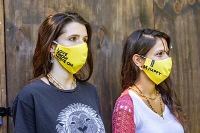Social Mask 'Love Grow Move On'