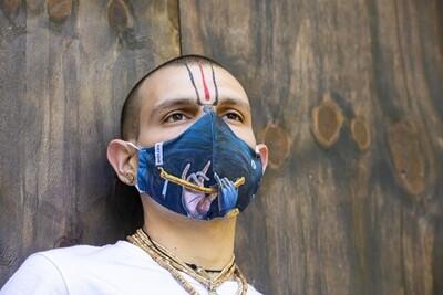 Social Mask 'Krishna's Flute'