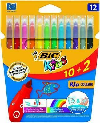 Bic Kids - Pennarelli Colorati Confezione da 12