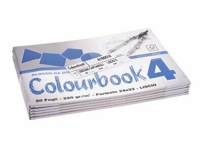 Colourbook Blocco da disegno 4 24x33 - Liscio