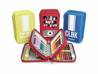 Colourbook Astuccio CLBK/Killed con tre zip