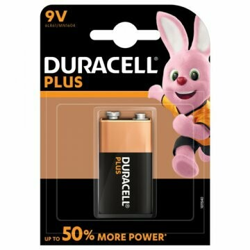 Batteria 9v duracell plus power