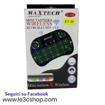 Mini Tastiera Wifi Retroilluminata