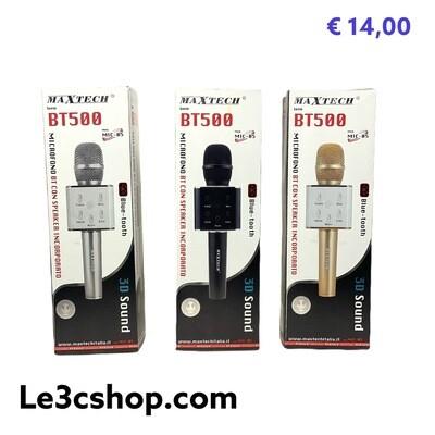 Microfono con Cassa Bluetooth Per Karaoke