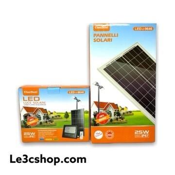 Faro A Led Con Pannello Solare E Telecomando 40w