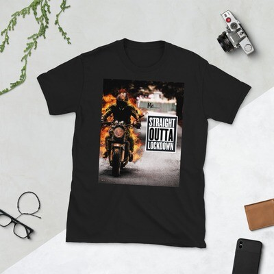 Straight Outta Lockdown Print T-Shirt