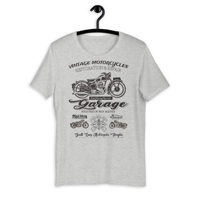 Vintage Manx Motorcycle Repair Garage T-Shirt