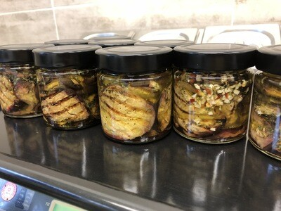 SA-Grillierti Auberginen in Oel Belegt 200 g