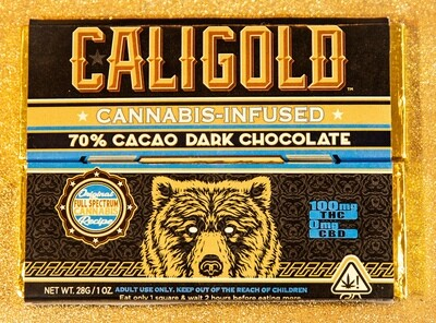 Cali Gold Dark Chocolate (100mg)