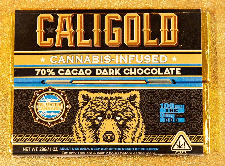 Cali Gold Dark Chocolate (100mg)