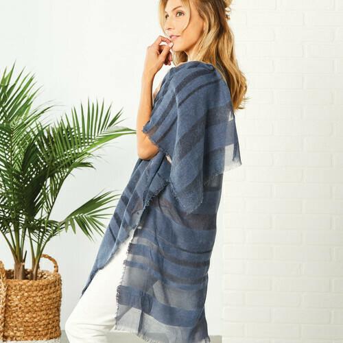 Print & Sheer Stripe Dusters