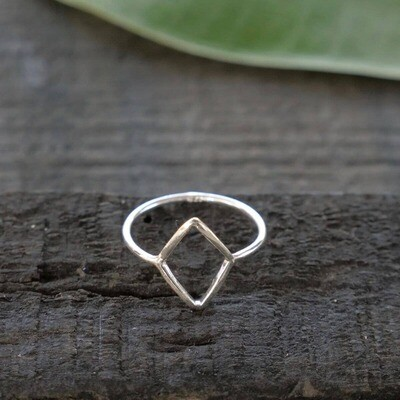 Sterling Silver Open Diamond Ring