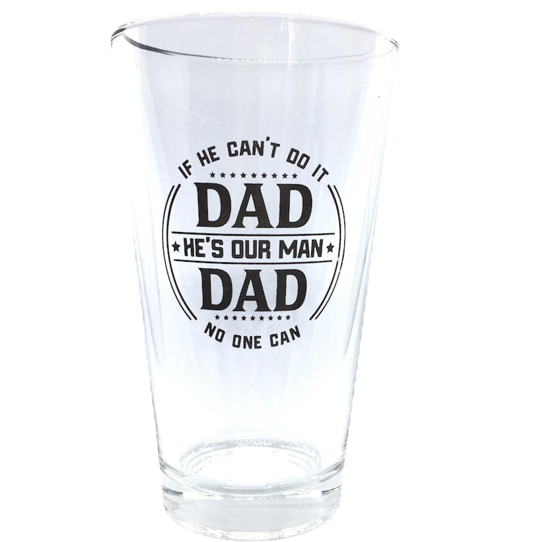 C25 DAD PINT ROCKS GLASS