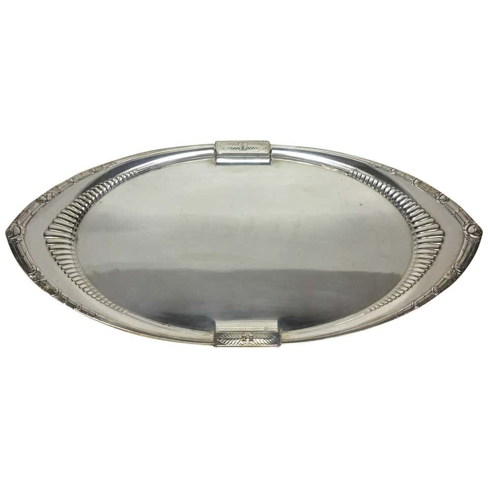 W.M.F. Art Deco Oval Tray Made in Germany, circa 1930