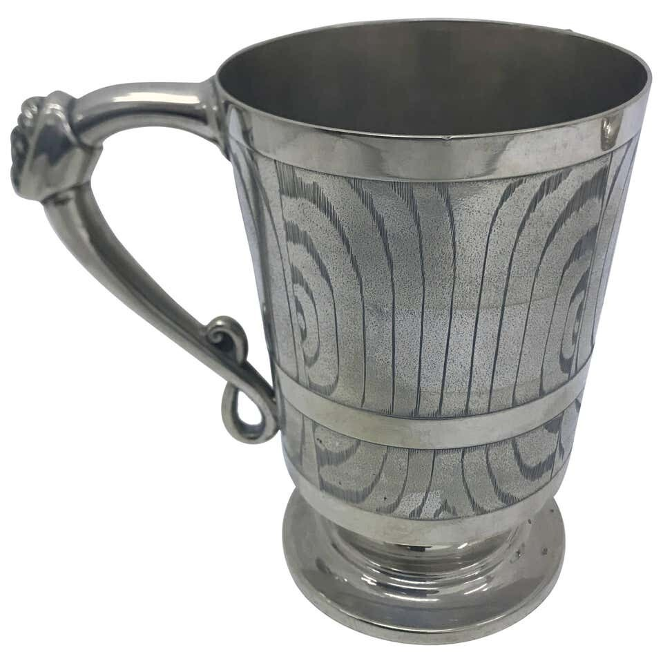 Victorian Silver Plated English Mug, circa 1870
