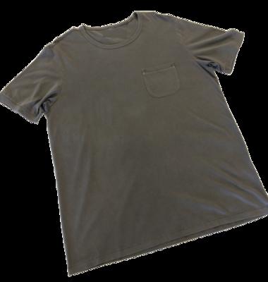 T-Shirt de Hombre 100% Algodón Pima Orgánico Gris C/Bolsillo