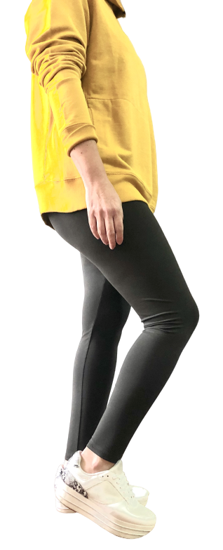 Leggings 95% Algodón Orgánico 5% Lycra - Gris