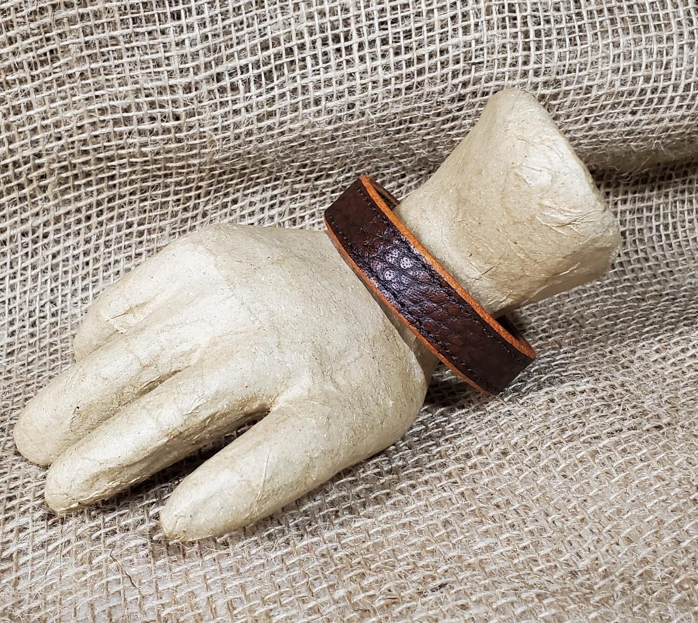 """Custom  """"BISON"""" Leather Bracelet"""