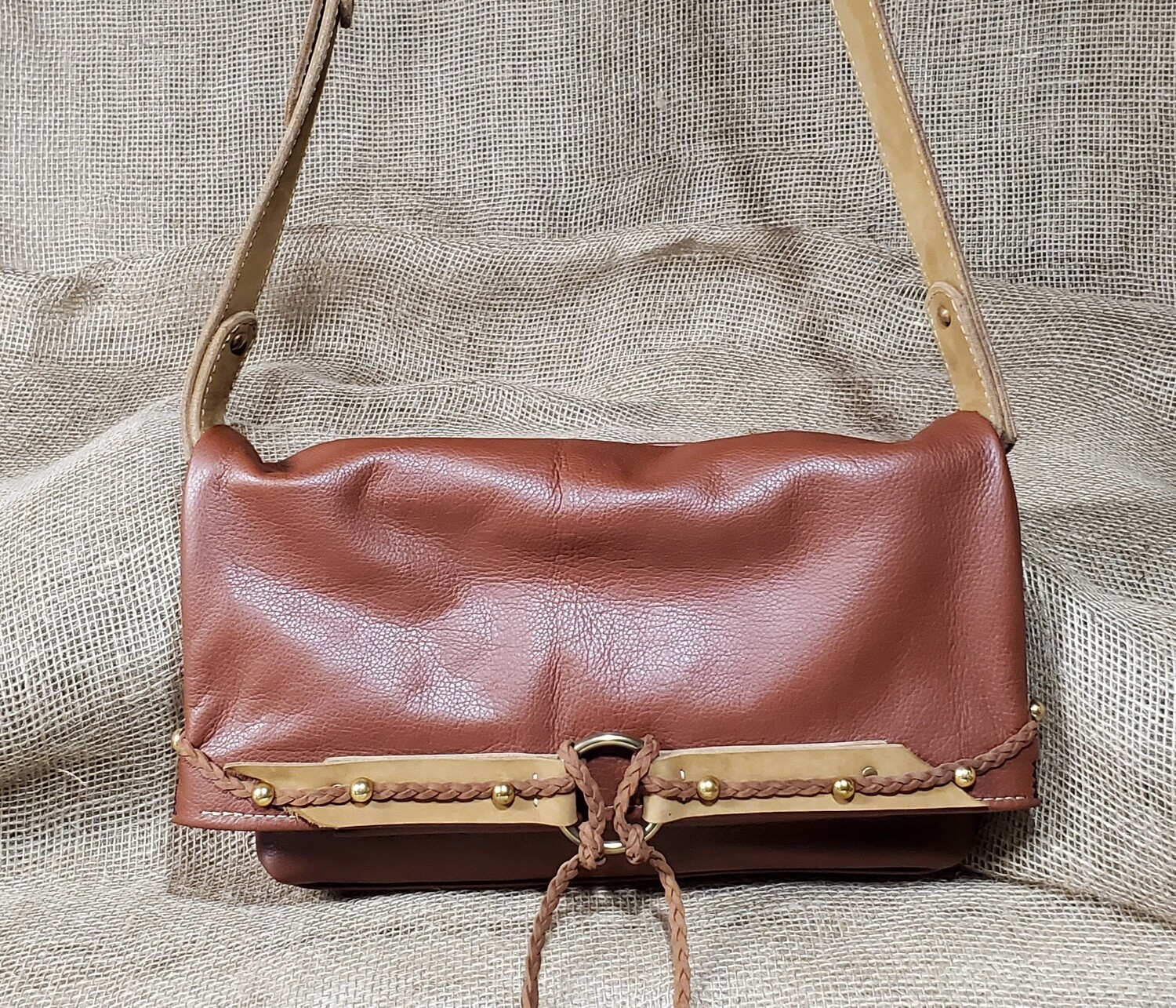 """The """"Butter Brown"""" Sag Body Purse"""