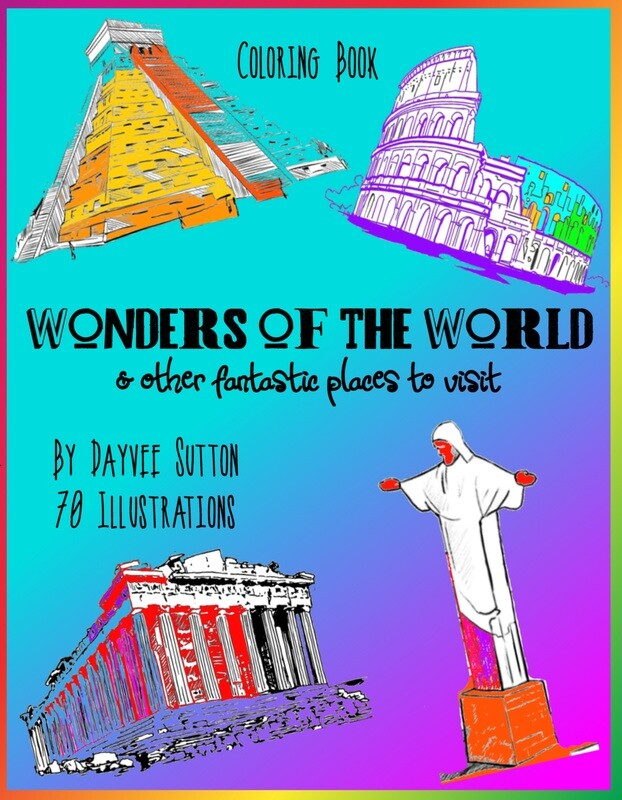 Wonders of the World & other fantastic places to visit - paperback book, signed by author