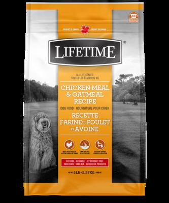LIFETIME CHICKEN & OATMEAL 11.4KG
