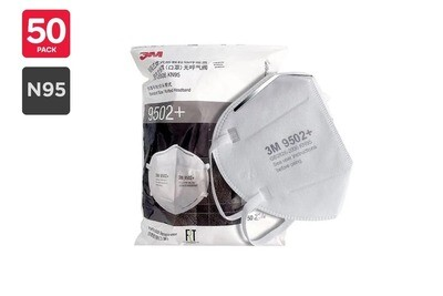 3M 9502+ Particulate Respirator Face Mask - 5 P/C