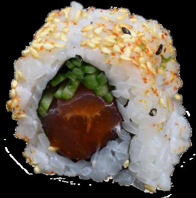 Original Spicy Tuna: tonijn | spice saus | kom. | sesamolie | sesam (8 st)